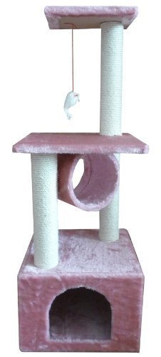 "42"" Pink Cat Tree Condo Scratcher"