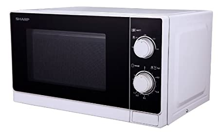 Sharp R-200WW Microondas 20L, Control Mecánico, 800W, Blanco, 800 W, 20 litros