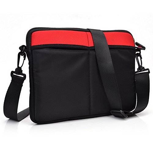 Kroo Tablet Sleeve mit abnehmbarem Tragegurt Neopren Schutzhülle für Yezz Epic T7ED Tablet grau grau rot tPoWtE