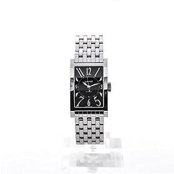 Uhr Eberhard die COURBEES 41017 Schalter Stahl Quandrante schwarz Armband Stahl