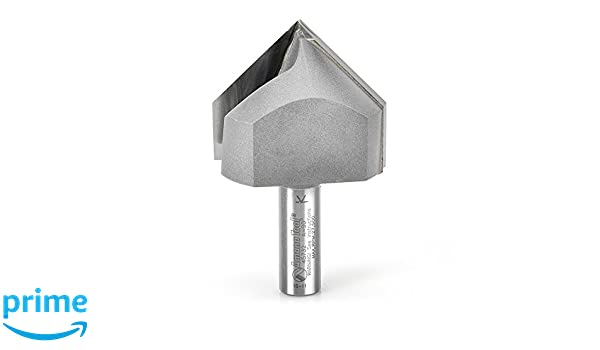 """NEW  1//2/"""" D 90 degree V-groove Carbide Tipped Router Bit 1//4/"""" Shank qw 3"""