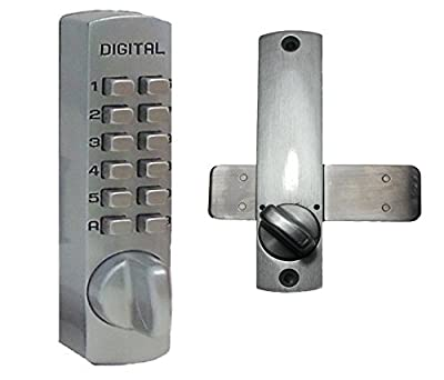 Lockey USA Mechanical Keyless Surface Mount Slide Deadbolt
