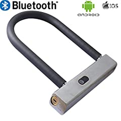 Bluetooth bicycle lock by WiseLime- A smart bike lock that connects to your phone to provide keyless entry, theft detection, bike sharing, crash alerts, and more. This anti theft security lock provides you with peace of mind, know that your b...