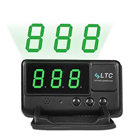 LTC Original Digital Universal coche HUD velocímetro GPS Alarma de exceso de velocidad parabrisas proyecto para todos los vehículos: Amazon.es: Electrónica