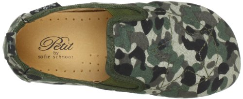Petit by Sofie Schnoor Canvas Indoor Army P823C - Zapatillas de casa de lona para niño Verde (Grün (Army))