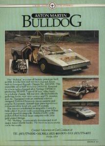 Amazon Com 1980 Aston Martin Bulldog Saloon Prototype For Sale