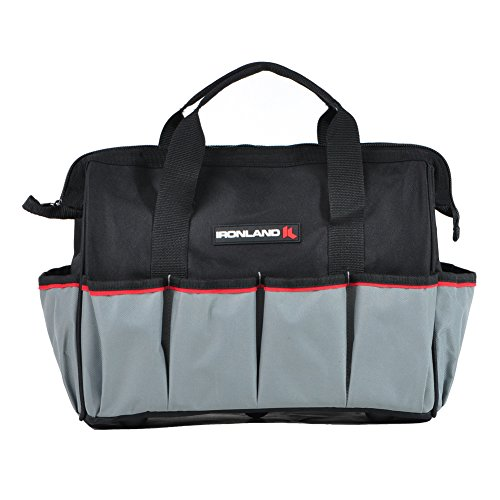 Ironland Wide Mouth Tool Bag 16 Inch, Muti-Purpose Soft Sided Tools Bag - Wide Mouth Tool Organizer