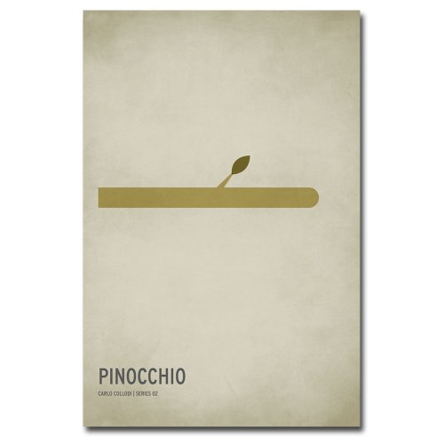 Trademark Fine Art Pinocchio by Christian Jackson Canvas Wall Art, 16x24-Inch (Pinocchio Nose Growing)