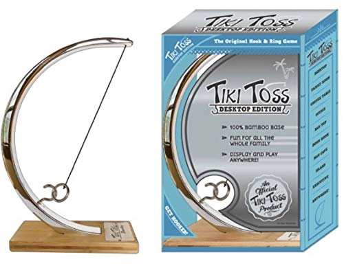 Tiki Toss Original Ring Toss, Hook and Ring Game Desktop Chrome Edition by Tiki Toss