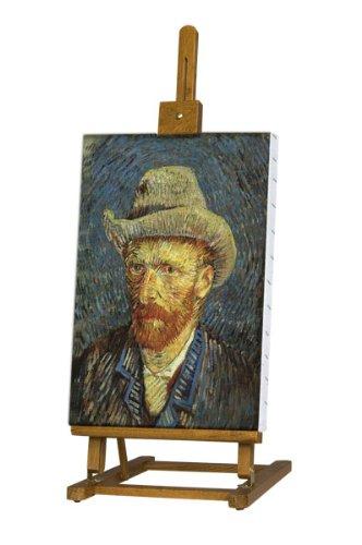 "Beechwood Finish Table (Creative Mark Van Gogh 29-38"" Tall Tabletop Easel, Folding Display Easel, H-Frame Wood Studio Art Easel Perfect for Student Artists, Small Studios & Art Display - Oiled Beechwood Finish)"