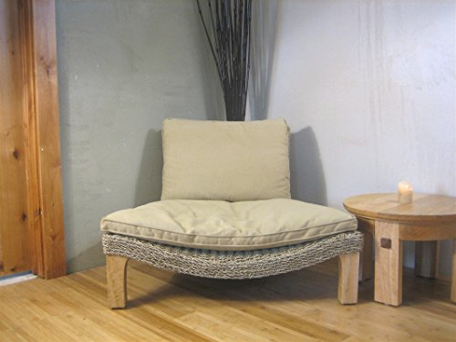 Seagrass Harmony Meditation Chair Natural With Flax