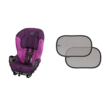 Evenflo Sonus Convertible Car Seat Dahlia With 2 Piece Window Cling Shades Grey