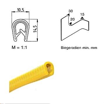 eutras Protection des Bords 2086/Pince profil passepoil ks1105 1/ /Serrage 4,5/mm 3/m Jaune