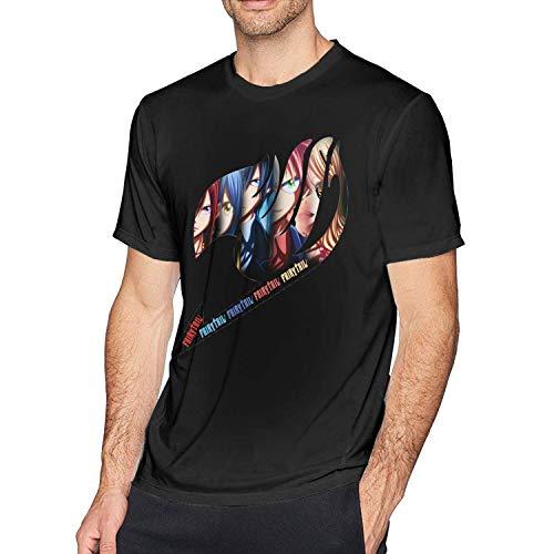 Macalai Mens Cool Fairy Tail Anime Tshirts Black (Cool Fairy Tail)