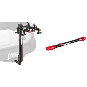 Yakima DoubleDown 4-Bike Hitch Mount Rack and Yakima TubeTop Crossbar Adapter Bundle