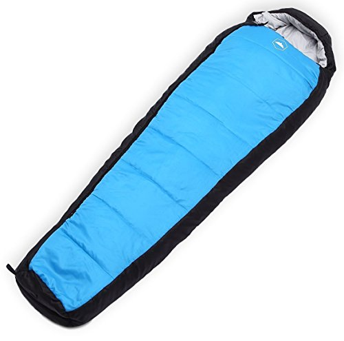 Tough Outdoors All Season Hooded XL Sleeping Bag with Compression Sack - Perfect Compression Sleeping Bag for Backpacking & Camping (Winter Solstice: 20-50F Temperature Rating) (Best Backpacking Sleeping Bag 2019)
