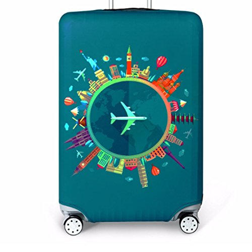 Bestja Washable Travel Luggage Cover Elastic Suitcase Trolley Protector Cover for 18-32 Inch Luggage (Travel, - Inch Suitcase Trolley 32
