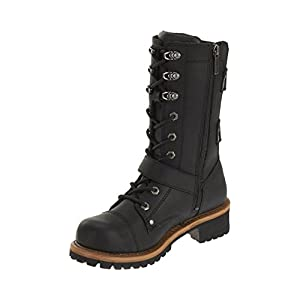 Harley-Davidson Womens Albara Black Leather High Cut Boot (8)