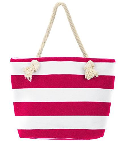 Leisureland Canvas Tote Beach Bag, Water Resistant Shoulder