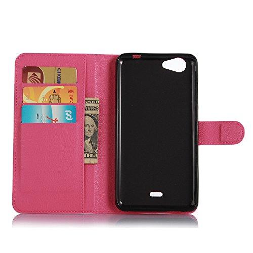 Funda Wiko slide 2,Manyip Caja del teléfono del cuero,Protector de Pantalla de Slim Case Estilo Billetera con Ranuras para Tarjetas, Soporte Plegable, Cierre Magnético(JFC11-7) F