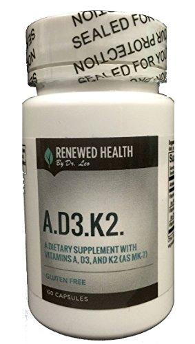 Vitamin D3 Cholecalciferol 5000 IU Vegetable Capsules Vitamin A.D3.K2 5000iu M-K7 Bone Cardiovascular Support 60 Vege Caps Gluten Free