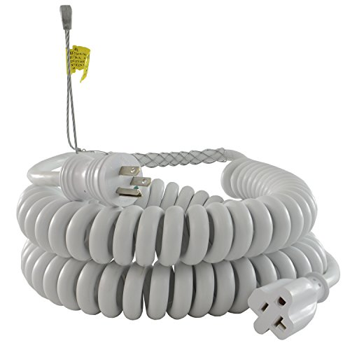 Conntek RL-70046-GB Upto 15-Feet Heavy Duty 12/3 Coiled Spring Extension Cord 15/20-Amp female Connector