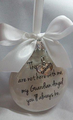 In Memory Grandma Gift My Guardian Angel You'll Always Be - Grandmother Memorial Christmas Ornament