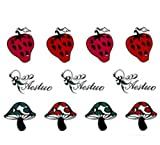 Strawberry and Mushroom Temporary Tattoo Tattoos Stickers