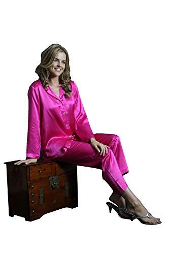 Pigiama Silk di Pink Hot seta Cocoon TWangPR