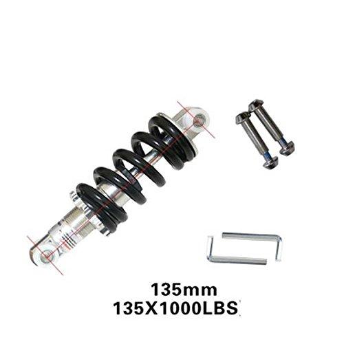 HomDSim Bicycle Mountain Bike Rear Suspension Spring Shock Absorber Black MTB1000lbs (5.31inch=135mm) by HomDSim