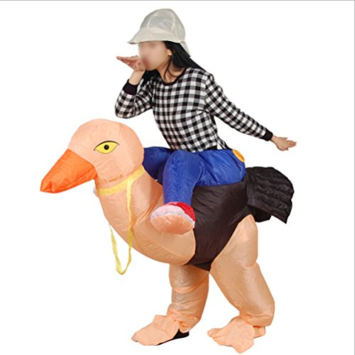 Inflatable Animal Ostrich Fancy Cosplay Costume Dress Theme Party Show Decoration Supplies Clothing for Adults by LUOEM