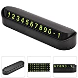 Emporary Telephone Phone Number Car Styling Plate, Useful and Practical Luminous Night Light Temporary Parking Telephone Card Stop Sign(Double Number)