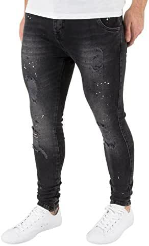 Sik Silk Men's Rio Low Rise Skinny Jeans, Black