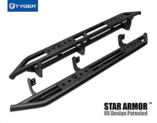 Tyger Auto TG-AM2N20158 Star Armor Kit for 2005-2018 Nissan Frontier/2005-2012 Suzuki Equator Crew Cab | Textured Black | Side Step Rails | Nerf Bars | Running Boards