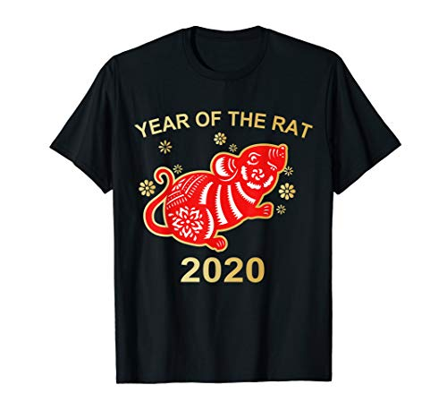 Year Of The Rat 2020 Happy Chinese New Year T-Shirt (New Chinese Year Rat)