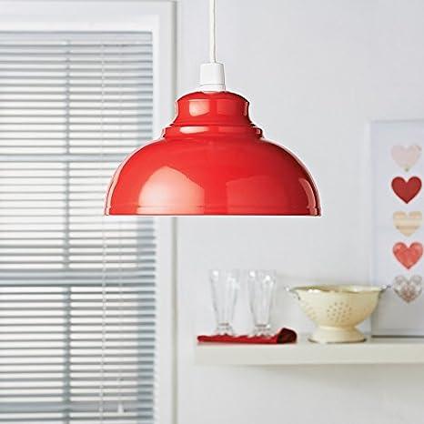 Oslo metálico colgante lámpara de techo Easy Fit - rojo ...