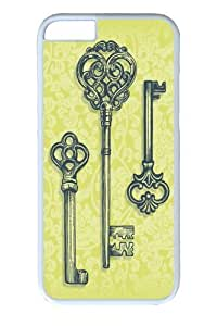 For Iphone 5C Phone Case Cover -Three Skeleton Keys PC For Iphone 5C Phone Case Cover White
