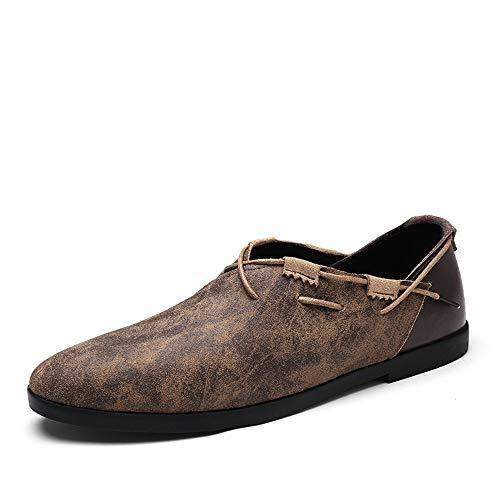 Soft Fashion su antiscivolo Colore ZHRUI mocassini Marrone Driving Shoes Flat Dimensione Mens Cachi Leathe Slip Soft 43 EU qgnzU0Xwn