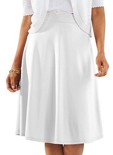 White Twirl Skirt - AmeriMark Knit Circle Skirt