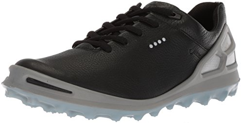 ECCO Women's Cage Pro Gore-Tex Golf Shoe, Black/Arona, 41 M EU (10-10.5 US)