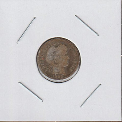 1900 Barber or Liberty Head (1892-1916) Dime Good