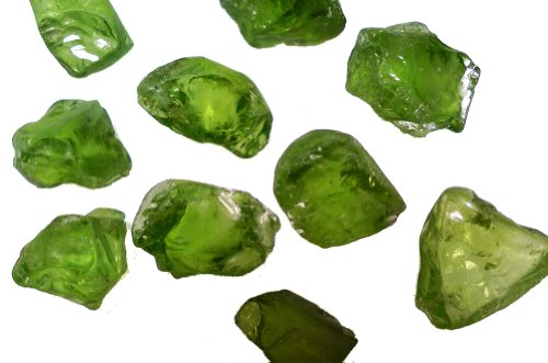 Fantasia Materials: 50 cts of Peridot Professional Facet Rough - Raw Natural Crystals for Faceting, Cabbing, Cutting, Lapidary, Polishing, Wire Wrapping, Wicca and Reiki Crystal Healing