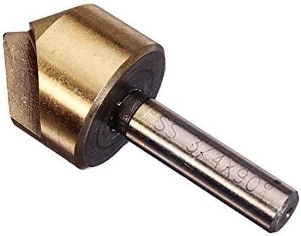 Nuokix 3pcs Single Flute 90 Degree Edge Chamfer Set Countersink Drill Bit Industrial Drill Bits