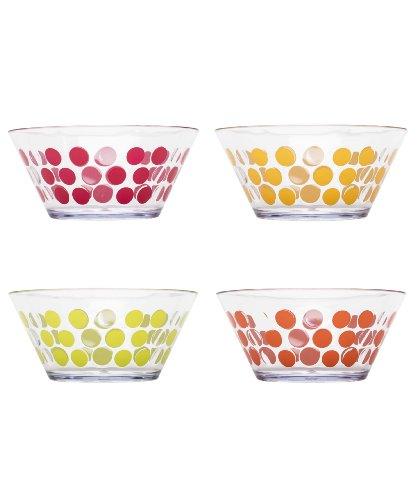 Zak Designs Dot Dot Bowl, 5.75-Inch, Fresh Color Design, Set of 4