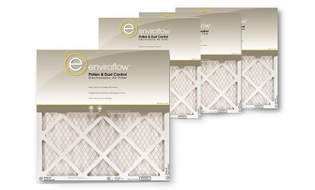 Enviroflow 16x25x1 (15.75 x 24.75) Pollen and Dust Control (4 Pack) by Enviroflow