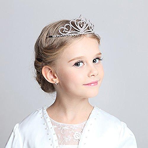 Flower Princess Costumes (Child Crystal Tiara Crown for Flower Girls, Sparkling Princess Costume Crown)