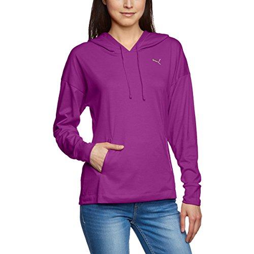 PUMA Womens F. Core Coverup Top Hoody Pullover Sweatshirt Small Sparkling Grape