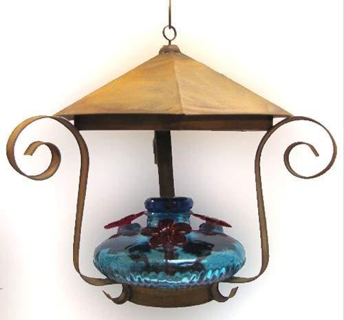Parasol BLOOMSHAQ Bloom Shelter Hummingbird Feeder Aqua
