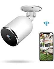 Kolaura Security Outdoor Camera, 1080P Waterproof Home Surveillance Bullet IP Camera with Night Vision, 2-Way Audio, Motion Detection, Cloud Storage Service, Ideal for Home/Office/Store