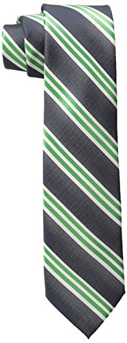 Green Ties Boys Polyester (Wembley Big Boys Vienne Stripe Tie, Green, One Size)